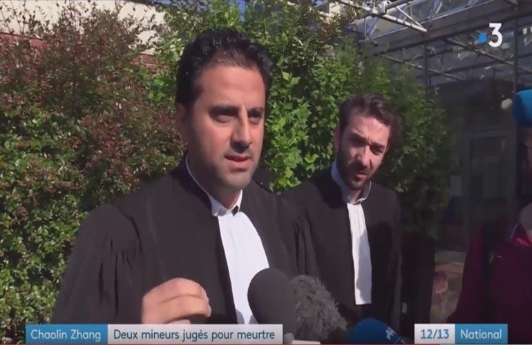 Affaire Chaolin : Maître Ruben dans le 12/13 du 15 juin 2018 – Journal national de France 3