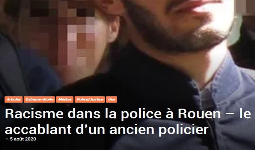 racisme dans la police à Rouen