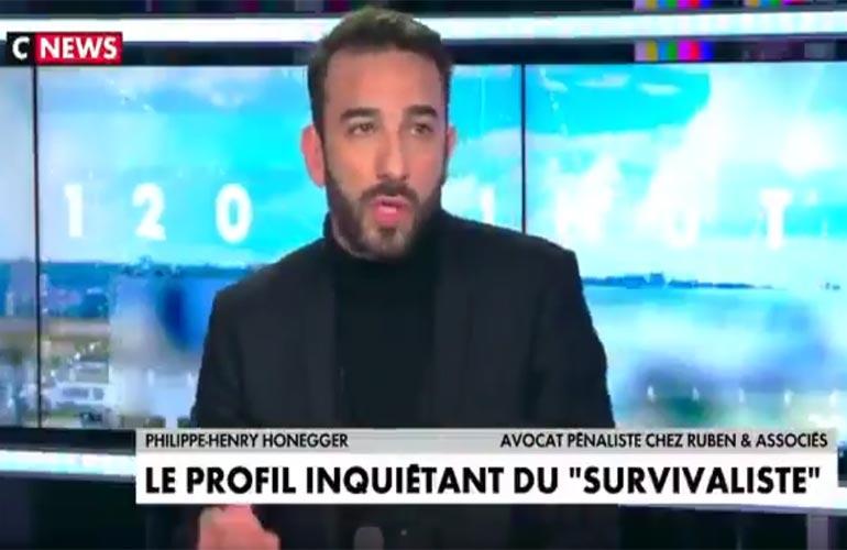 Maître Honegger sur CNews : Intervention de police dans le Puy-de-Dôme et port d'armes