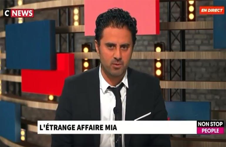 Steeve Ruben réagit à l'affaire Mia sur Morandini Live, CNews